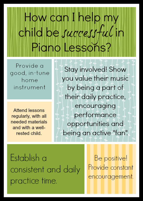 How Can I Help My Child Succeed in Piano Lessons?!